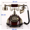 Fashion vintage antique telephone home fashion fitted american rotating disk dial phone