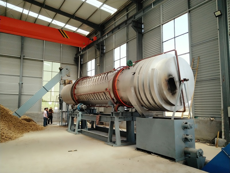 Rotary activated furnace machine