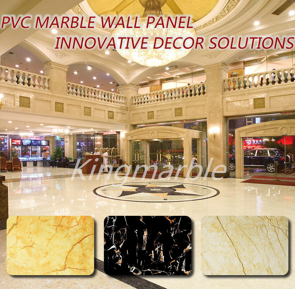 Artificial marble UV coated PVC wall sheets