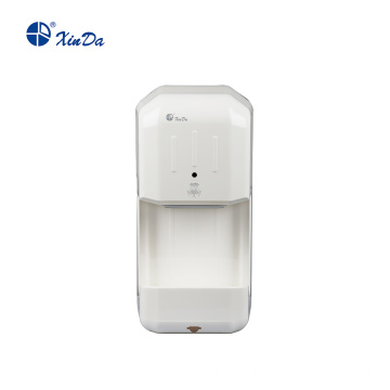 Automatic hand dryer with water level indicator