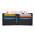 2020 Men Blank Sublimation Black PU Leather Wallet