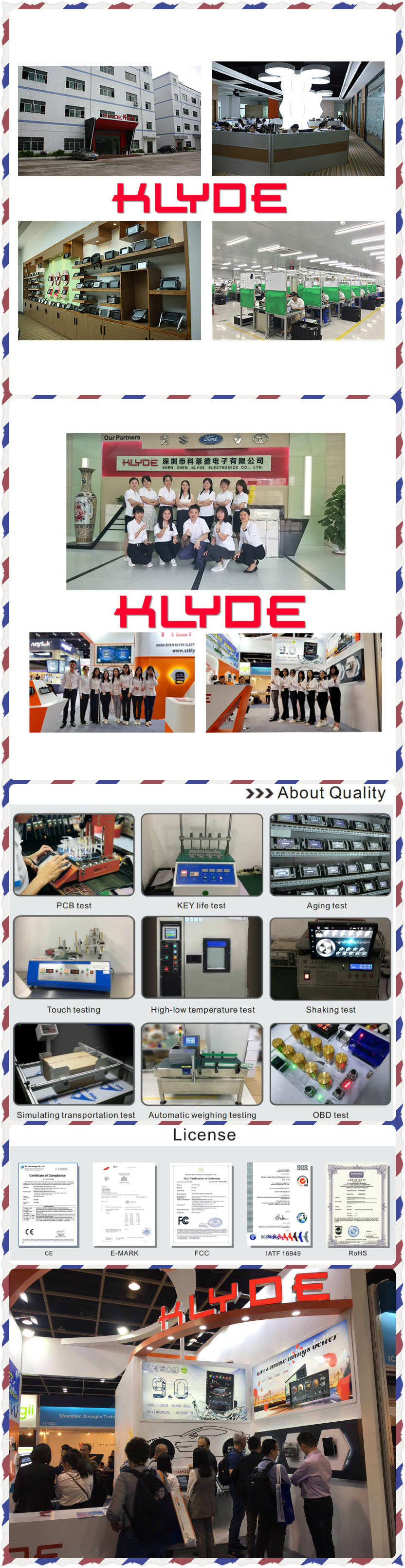 KLYDE Android car radio/car navigation factory