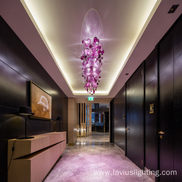 Project wedding hotel transparent glass pendant light