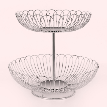 Stainless steel fruit basket wire fruit stand basket