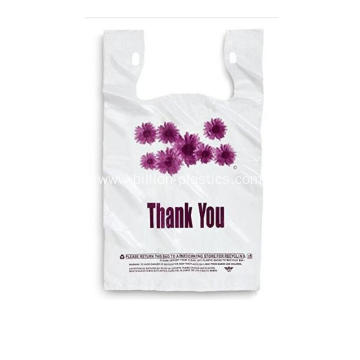Plastic Thank You Printing Carrier Shopping Bag