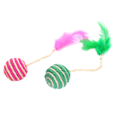 Dog Cat Feather Toys