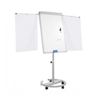 Adjustable In Height Magnetic Moving Flip chart easel