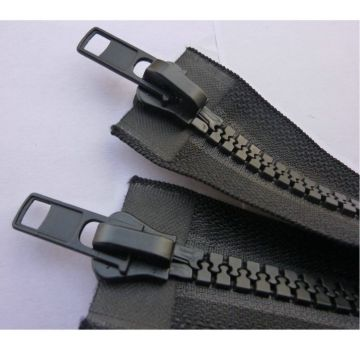 Exquisite black plastic separating zipper for apparel