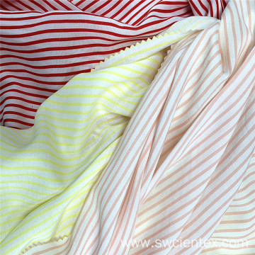 Customized Striped Woven 100% Rayon Clothing Fabrics