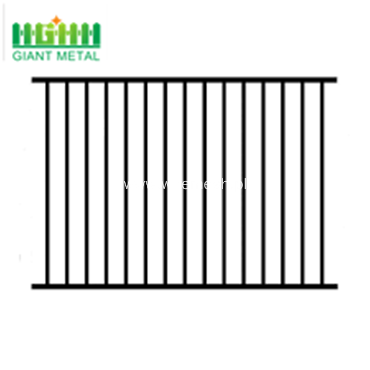 Factory price spear double rail steel fence panel