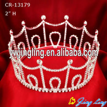 Beauty Queen Full Round Rhinestone Boy Crowns