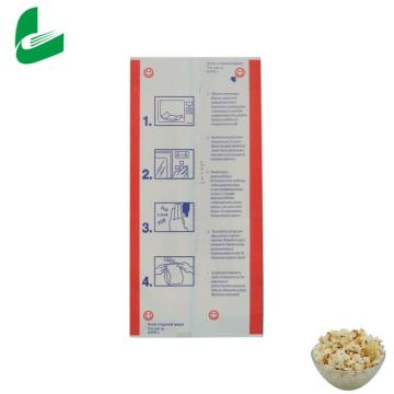 Packaging paper greaseproof clear clutch microwave popcorn bags