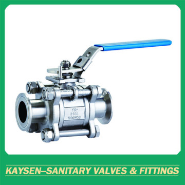 3A Sanitary 3PC clamped non-retention Ball Valve