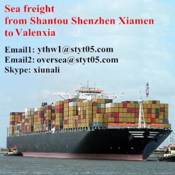 Ocean freight from Shantou shipping to Valenxia