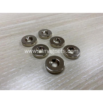Neodymium Ring Magnets Countersunk