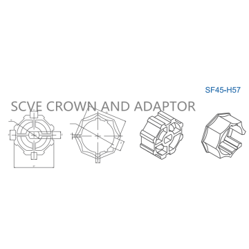 Accessories Crown and Adaptor SF45Series