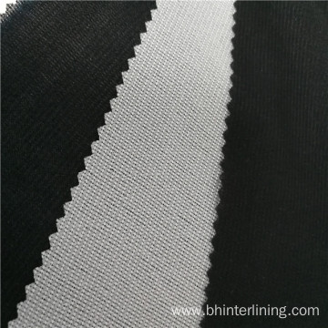 Polyester tricot knitted woven interlining for thin fabric