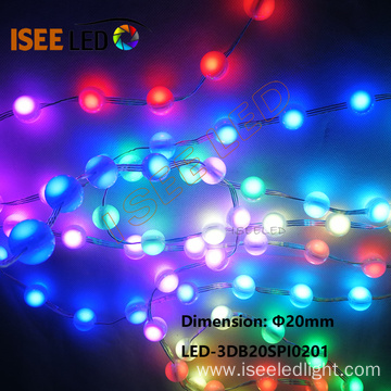 20mm diameter Individual Controllable LED Ball String Light