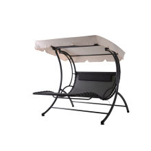 Steel textilene swing chair with canopy