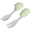100% Safe Silicone and Stainless Steel Spoon Fork