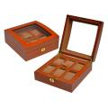Diplomat Khaki Velvet Watch Box With Clear Top