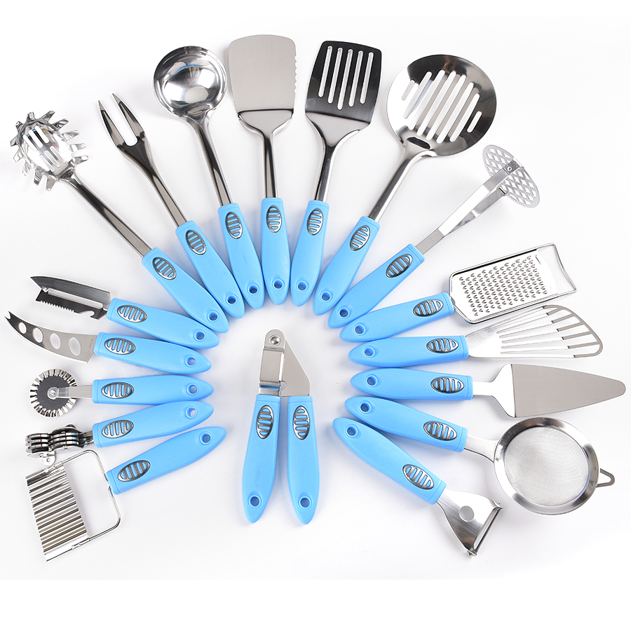 stainless steel utensils plastic handle kitchen gadgets