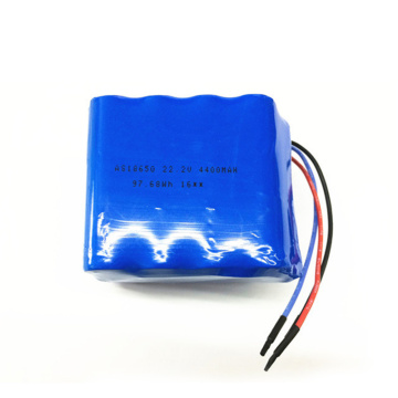 18650 6S2P 22.2V 4400mAh Li-Ion Battery Pack