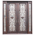 High Cost Effective Wrought Iron Double Door