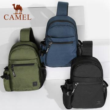 CAMEL Outdoor Men's Bags Chest Bag Men Lightweight Shoulder Bag Leisure Sports Trend Fashion Zipper Bag Мужчины Наплечные сумки