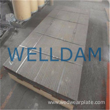 Chromium carbide overlay seamless abrasion resistant plate