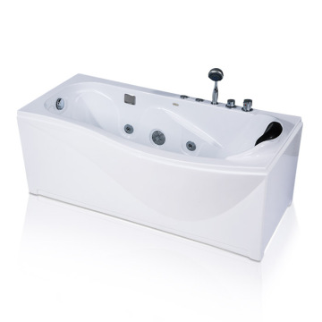White Acrylic Freestanding Whirlpool Bathtub
