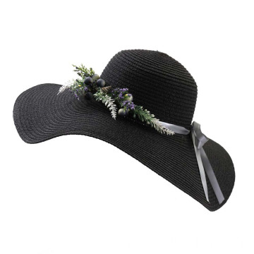 Garden park flower decoration bucket straw hat