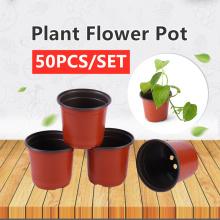 50pcs two-color nursery pot plastic pp simple flower pot creative wholesale small flower pot plant nursery gardening supplies