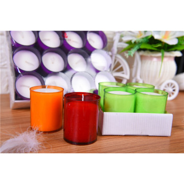 Wedding Party Colored Votive Candle