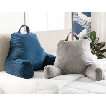 Memory Foam Inflatable Reading Pillow With Arms Covers