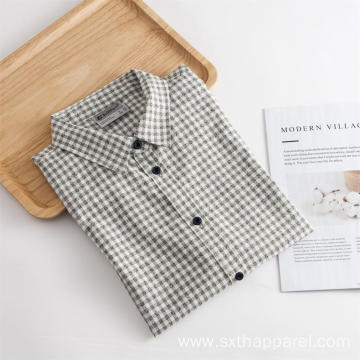 Men's 3/4 Sleeved Check Outdoor UV Resistance Shirt
