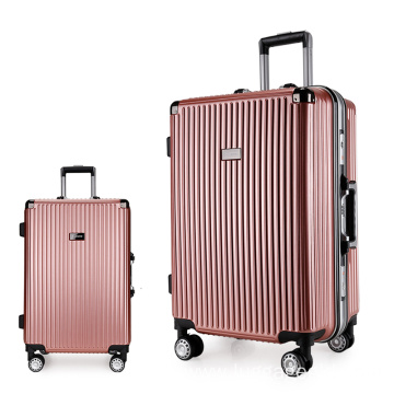 3 pieces aluminum spinner suitcase sets