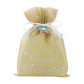 Yellow Star Embossed Non-woven Christmas Gift Wrapping Bag