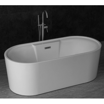 Eco-friendly White Acrylic Adult Freestanding Bathtub
