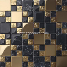 High Quality Black And Rose Gold Mosaic Stone