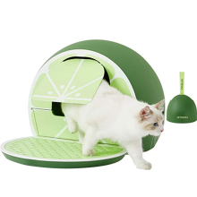 Green Lemon Covered Cat Litter Box with Lid