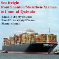 Sea freight charges from Shantou to Umm-al-Qaiwain
