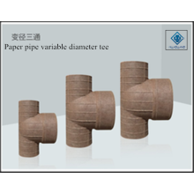 Variable diameter tee paper pipe