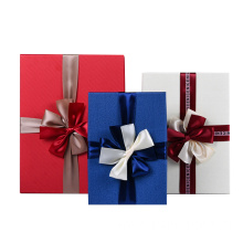 Luxury Clothing Gift Packaging Paper Box With Ribbon