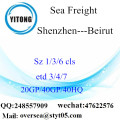 Shenzhen Port Sea Freight Shipping To Beirut