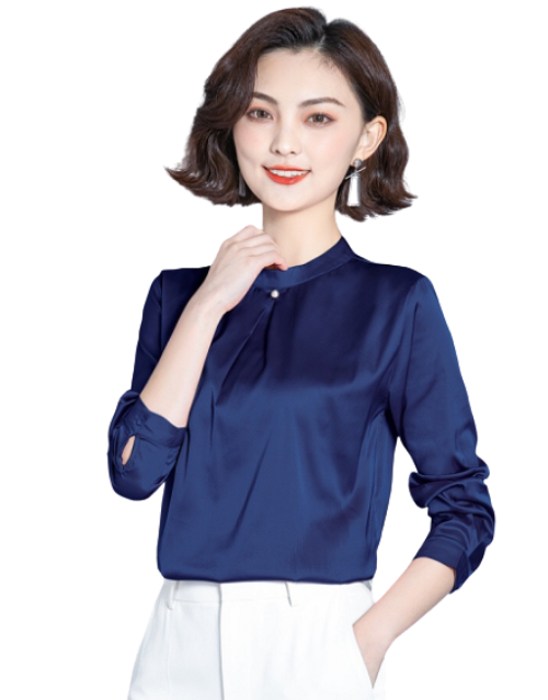 Womens Fashion Casual Long-sleeved Lace Shirt