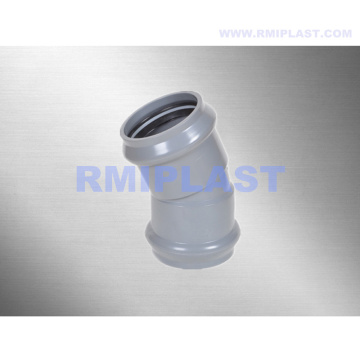 PVC Fitting With Rubber Ring 22.5 Degree Elbow