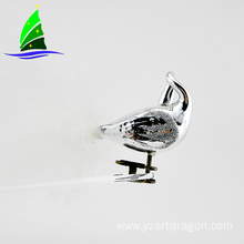 High Quality Silvery Glass Clip-on Bird Ornament