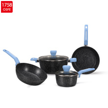 Forged Aluminium Marble nonstick Induction Cookware