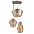 3 bulb Hot Sale Decorative glass Pendant Lamp